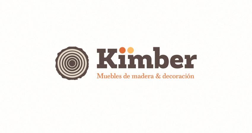 Nuevo logo de Muebles Kimber, muebles de madera y decoración en Zaragoza